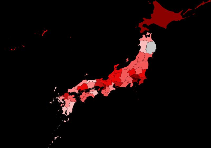 新型コロナウィルス感染マップ